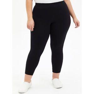 🆕 Black Crop Premium Comfort Legging 1X 14 16 NWT